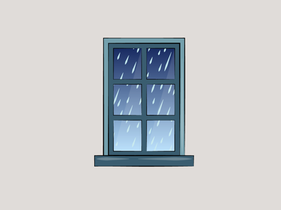 Window view - rain graphicdesign icon graphic design digitalart artwork vectorart vector illustration design creative