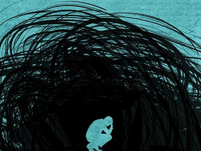 Overwhelmed vector procreate photoshop illustrator illustration digital illustration