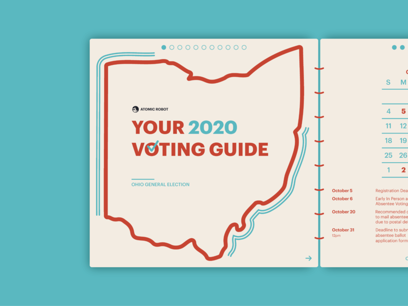 2020 Voting Guide - Atomic Robot typography booklets atomicrobot guide voterregistration vote2020 votereducation 2020election design