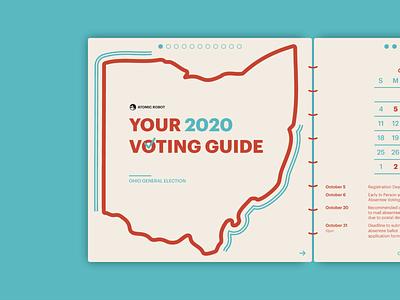 2020 Voting Guide - Atomic Robot typography booklets atomicrobot guide voterregistration vote2020 votereducation 2020election design