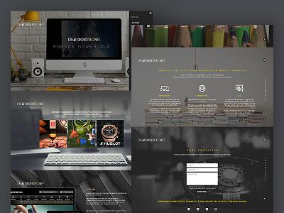 Second shot Creationdesite scroll transitions navigation modernizr flat design animation bootstrap fullscreen one page web design responsive ui ux design
