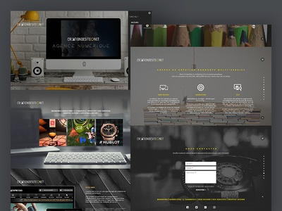 Second shot Creationdesite scroll transitions navigation modernizr flat design animation bootstrap fullscreen one page web design responsive ui ux design