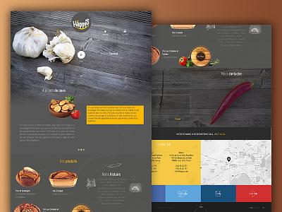 Happy'S scroll transitions navigation modernizr flat design animation bootstrap responsive ui ux design