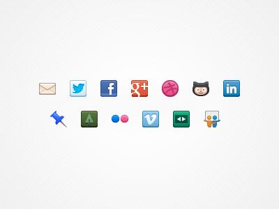 Contact/social icons V2