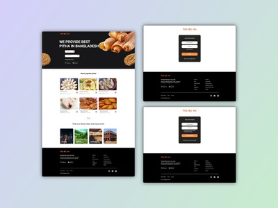 Pithabri.com Online Platform UI Concept website design webdesign adobe xd design adobe xd xd ui kit figma design adobexd adobe photoshop ux ui