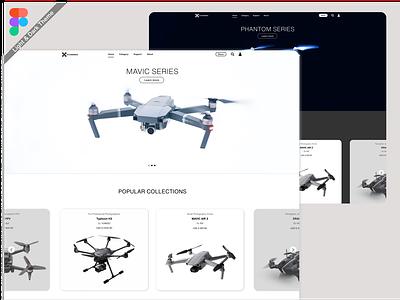 Dronesell Landing Page Ui homepagedesign landingpage graphics ux website builder website figma adobexd