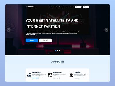 Network Provider landing page design. new best design best shot website concept website ui ux adobexd adobe