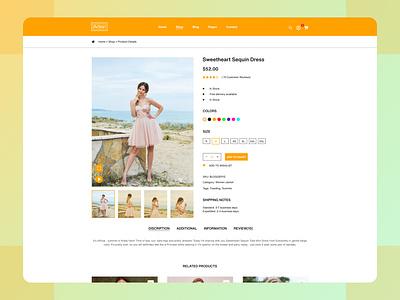 Arbor Fashion Website Shop Page Ui Design branding logo illustration adobe photoshop xd ui kit design adobexd figma ui ux