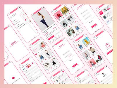 Arbor Online Fashion Mobile App Design ui kit webdesign andriod ios apps new appdesign app ios app website branding motion graphics graphic design xd ui kit design adobexd figma ui ux