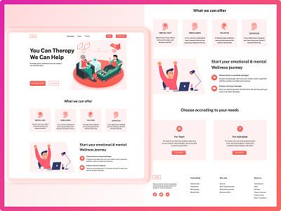 Psychologist Website Ui Design 2021 page home animation motion graphics graphic design 3d new android app website branding logo illustration adobe photoshop xd ui kit design adobexd figma ui ux