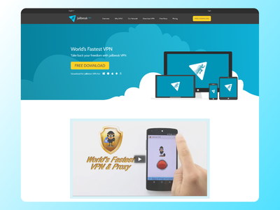 Jailbreak VPN Website UI Design Figma branding logo illustration adobe photoshop xd ui kit design adobexd figma ui ux