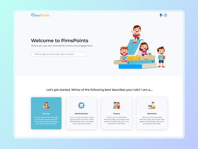 Pimspoint Home redesign logo branding illustration adobe photoshop xd ui kit design adobexd figma ui ux