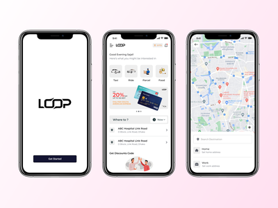 Ridesharing, package delivery, Food delivery App Design Concept food appdesign app new motion graphics graphic design 3d animation logo branding illustration adobe photoshop xd ui kit design adobexd figma ui ux uiux ride