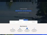 Travel Web Site Desigen UX/UI