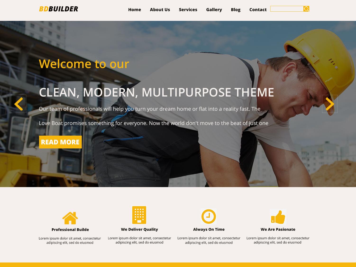 Bdbuilder Website template adobe photoshop icon ux ui