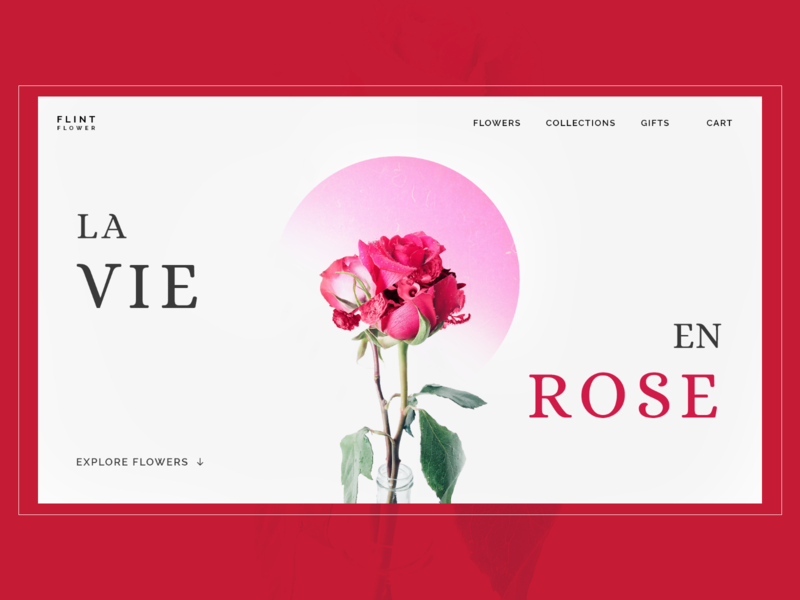 FLINT FLOWER - Minimalistic flowers store Landing page. design minimalism e-commerce design minimalist webdesign ui uidesing uiinspiration