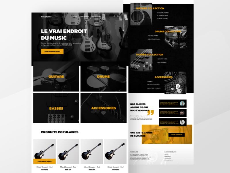 MUSICALAND - Musical instruments Home page e-commerce design webdesign ui design uidesing uiinspiration e-commerce shop music shop homepage design homepage landing page design landing page landing