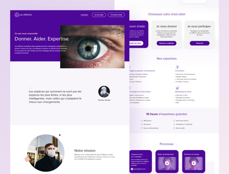 Les affairés - Website design landing design landing page uiinspiration homepage design ui uidesing webdesign website concept website design web design