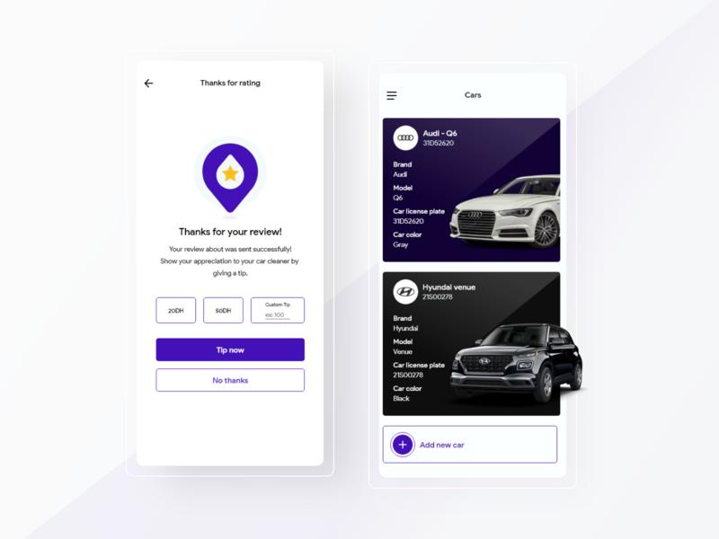 Portwash - Mobile design car wash webdesign uidesing ui uiinspiration mobile app design mobile design mobile app mobile ui