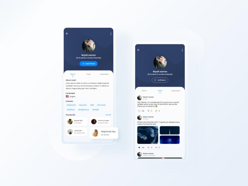 User profile - Mobile app profile user profile mobile app mobile design uidesing ui uiinspiration