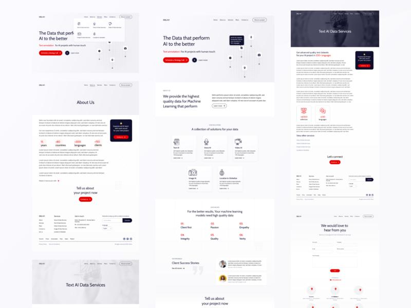Delivi - Website design web inspiration website design ai homepage design design webdesign uidesing ui uiinspiration