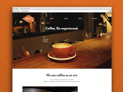Craft Coffee Revolution behance social media interaction ui online website