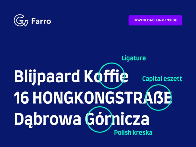 Farro download type design latin font typeface