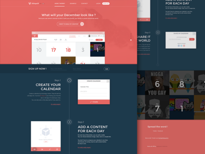 25DaysOf.io | Side Project ui layout christmas landing page web design one page simple