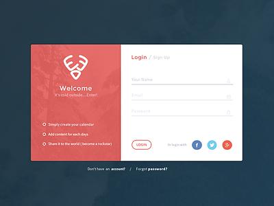 25DaysOf.io |Login login ui ux side project sign up web design