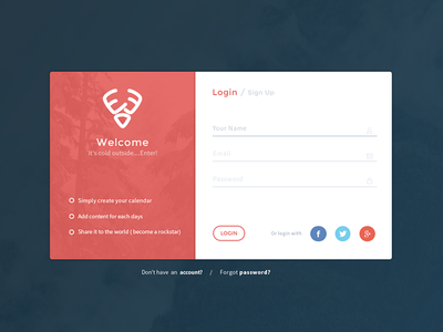 25DaysOf.io | Login login ui ux side project sign up web design