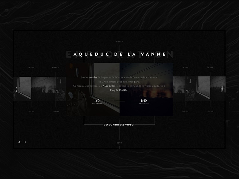 DI  — Exploration site page web experience interactive webdesign ux ui