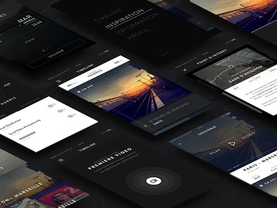 DI—App minimal black ios app mobile ux ui