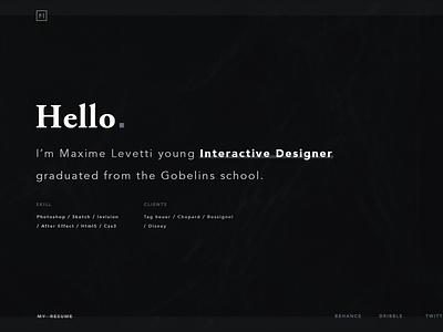 Portfolio – Motion ux simple website after effect motion portfolio web ui