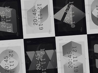 Recursive–02 vector shapes minimal design poster 3d art