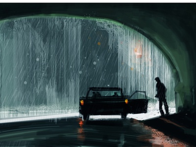 """light study from a shot from movie """"The Matrix"""""""