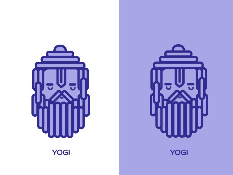 Indian Yogi icon app ui illustration vector design adobeillustrator icon artwork adobephotoshop symbol indian folk art indian culture yoga meditation yogi