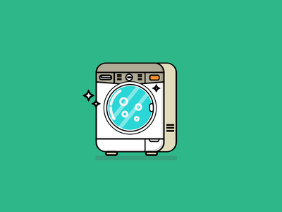 Washing Machine Illustration icon vector illustration design