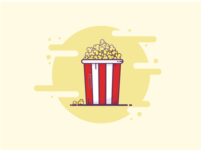 Popcorn Illustration popcorn movie adobe illustrator icon design illustration