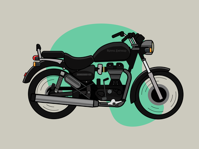Motorcycle Illustration royal enfield adobe illustrator car motorcycle motorbike logo vector icon illustration design