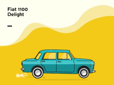 Car Illustration - Fiat 1100d