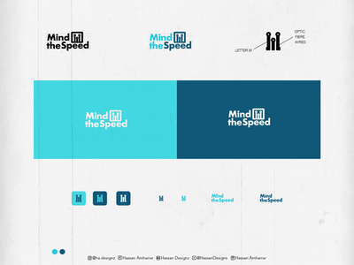 Mind the speed - optic fibre company typography design logo typography design calligraphy and lettering artist vector branding