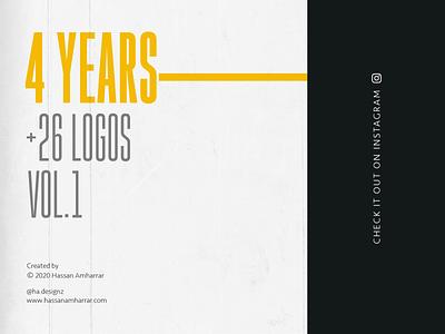 Four years, 26 Logos (V.1) design branding typography design calligraphy typography calligraphy and lettering artist inspiraldesign portfolio graphicdesigner logodesigner inspirations logofolio inspiration logo design symbol inspiration