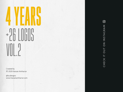 Four years, +26 Logos(V.2) vector illustration logo design branding typography design calligraphy typography calligraphy and lettering artist