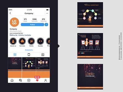 Social Media Posts Instagram Carousel ux design ui design illustration branding social media templates social media pack posts social media design linkedin instagram post facebook ad social media