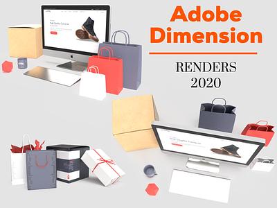 Adobe Dimension Branding renders typography illustration design mockup set mockup template mockup design mockup psd logo ogo 3d uiux ui branding mockup