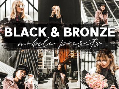 Black Bronze Mobile Presets Inspired By @Mikutas