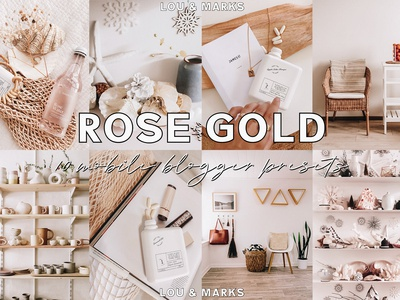 Rose Gold Mobile Home Blogger Lightroom Presets