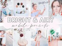 4 MOBILE Lightroom Preset, Bright & Airy Preset