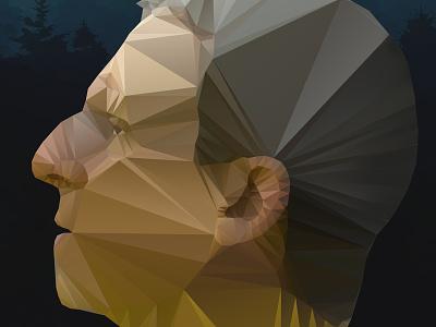 Foxcatcher Polygon foxcatcher polygon illustrator vector steve carell john du pont poster design fan art