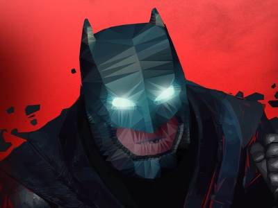 Batman Polygon design poster illustrator photoshop batman v superman polygon batman